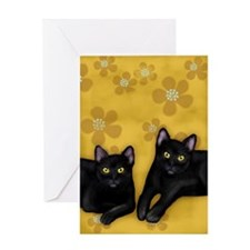 blackcats2 copyls Greeting Card