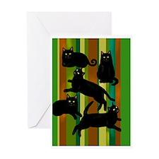 5blackcatsrlscpng Greeting Card