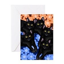 5blackcatslsc Greeting Card