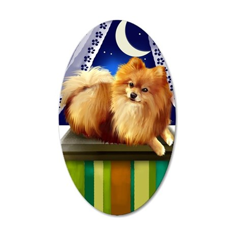 pomeranianlsw 35x21 Oval Wall Decal
