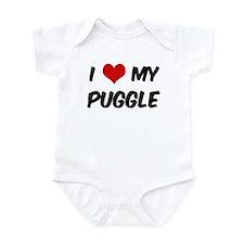 I Love: Puggle Infant Bodysuit