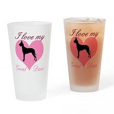great danebl Drinking Glass