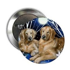 "goldenretrievers snown copy 2.25"" Button"
