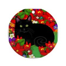 catblgarden copy Round Ornament