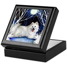 eskie snown copy Keepsake Box