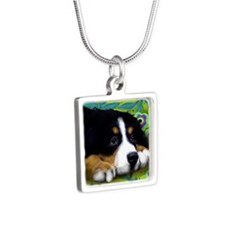 bernese9 copy Silver Square Necklace