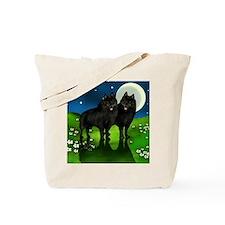 schipperke moon Tote Bag