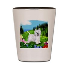 westie mount Shot Glass