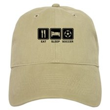 EAT SLEEP SOCCER Baseball Cap