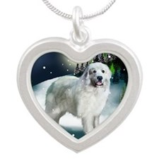mountine gp Silver Heart Necklace