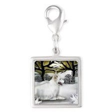 WS WGS Silver Square Charm