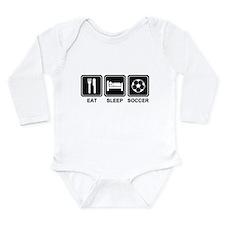 EAT SLEEP SOCCER Long Sleeve Infant Bodysuit