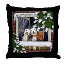 ww bcollie copy Throw Pillow