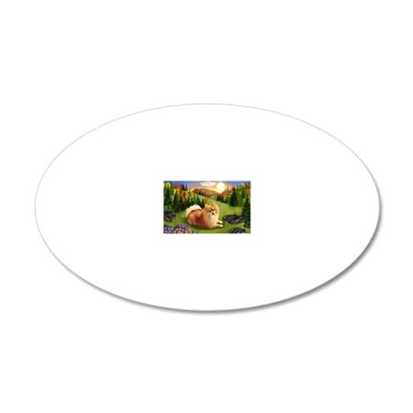fall pom pr 20x12 Oval Wall Decal