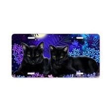 cats copy Aluminum License Plate