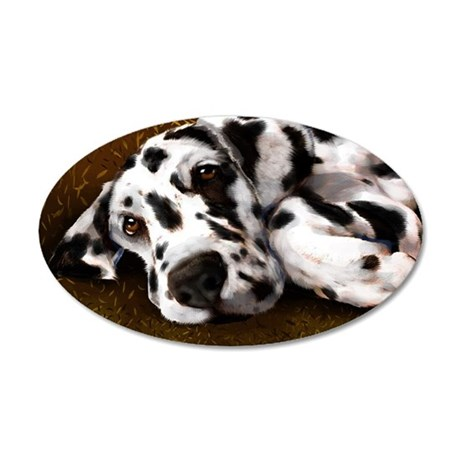 DALMATION 35x21 Oval Wall Decal