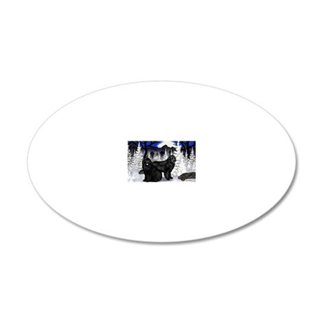 WN newfcopy 20x12 Oval Wall Decal