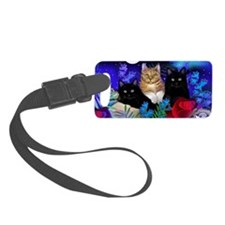 print cats Small Luggage Tag