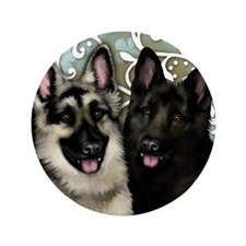 "German shepherd dogs 3.5"" Button"