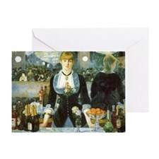 Bar at the Folies-Bergere by Manet Greeting Card