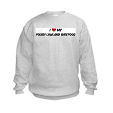 I Love: Polish Lowland Sheepd Sweatshirt