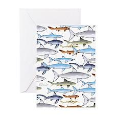 School of Sharks n Greeting Card