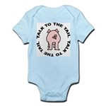 Talk To The Tail Pig Infant Bodysuit