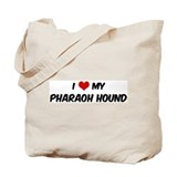 I Love: Pharaoh Hound Tote Bag