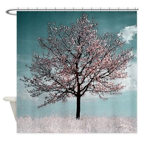 gifts bathroom bathroom decor cherry blossom tree shower curtain