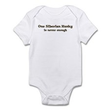 One Siberian Husky Infant Bodysuit