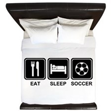 EAT SLEEP SOCCER King Duvet