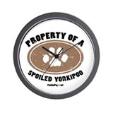 Yorkipoo dog Wall Clock
