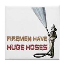 Funny Firefighter Tile Coaster