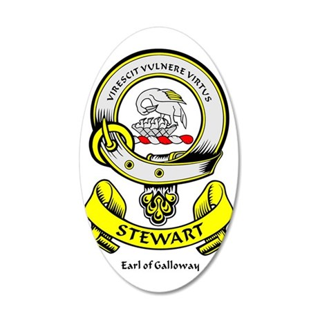 STEWART-OF-GALLOWAY 35x21 Oval Wall Decal