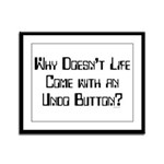 Undo Button Framed Panel Print