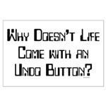 Undo Button Large Poster