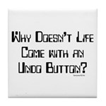 Undo Button Tile Coaster