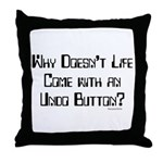Undo Button Throw Pillow