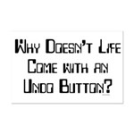 Undo Button Mini Poster Print