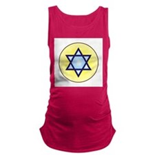 jewish star copy.jpg Maternity Tank Top