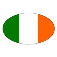 Irish Tricolor Flag Oval Decal