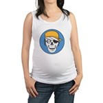 pirate skull colored copy.jpg Maternity Tank Top