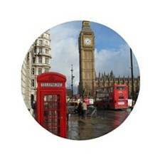 "London phone box 3.5"" Button"