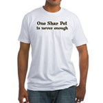 One Shar Pei Fitted T-Shirt
