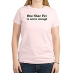 One Shar Pei Women's Pink T-Shirt