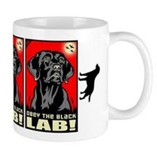 Obey the Black Lab! 06 Propaganda Small Mug