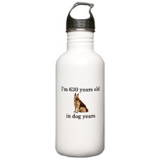 90 birthday dog years german shepherd Water Bottle
