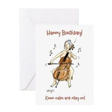 Happy Birthday Greeting Card - keep calm!