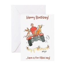 Happy Birthday greeting card - fun filled day
