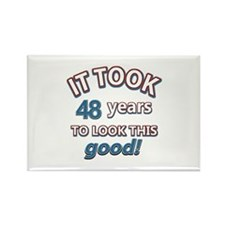 48 year old designs Rectangle Magnet (10 pack)